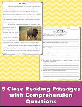 Native Americans Close Reading Passages {Digital & PDF Included}