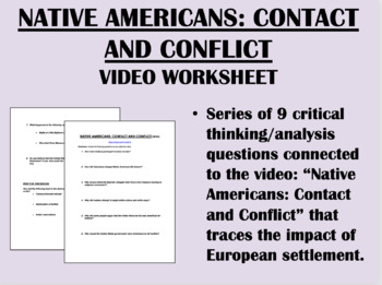 Native Americans: Contact and Conflict Video Worksheet - USH/APUSH