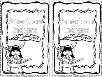 Native Americans Interactive Notebook: Cover (2 per page)