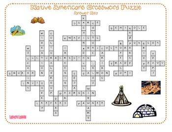 Native Americans Crossword Puzzle
