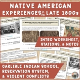 Native Americans: Dawes Act, Wounded Knee, Little Bighorn-