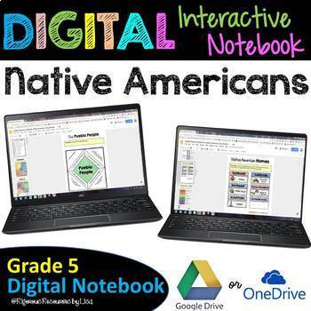 Native Americans Digital Interactive Notebook | Google Drive Resource