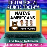 Native Americans Digital Social Studies Toothy® Task Cards