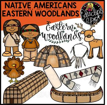 Native Americans-Eastern Woodlands Clip Art Bundle {Educlips Clipart}