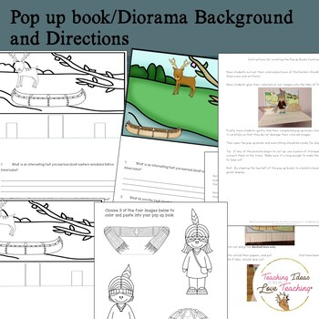 Native Americans:  Eastern Woodlands Lessons, Activities and Pop up Book