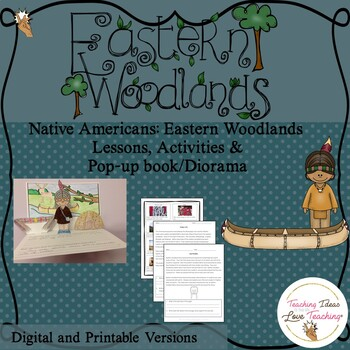 Native Americans:  Eastern Woodlands Lessons, Activities a