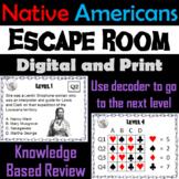 Native Americans Escape Room - Social Studies
