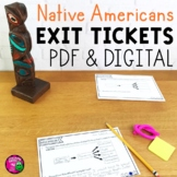 Native Americans Exit Tickets Set