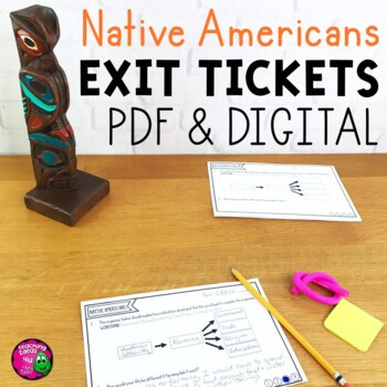 Native Americans Exit Tickets Set - Digital & Printable