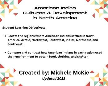 Native Americans File Folder Activity
