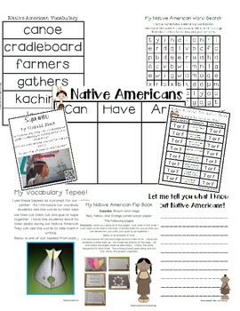 Native Americans Flip Book and More!