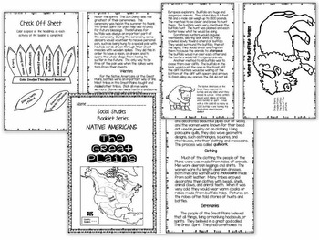 Native Americans - Great Plains Booklet