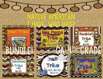 Native Americans Bundle I Have, Who Has?