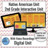 Native Americans Interactive Slides with Voice Recording for Second Grade