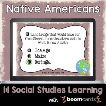 Native Americans Interactive Task Cards