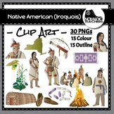 Native Americans - Iroquois Clip Art - 30 PNGS