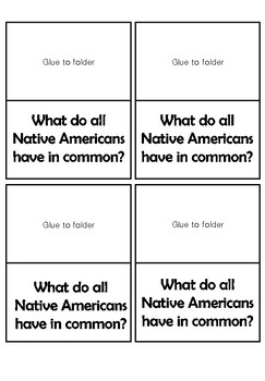 Native Americans Lap Book