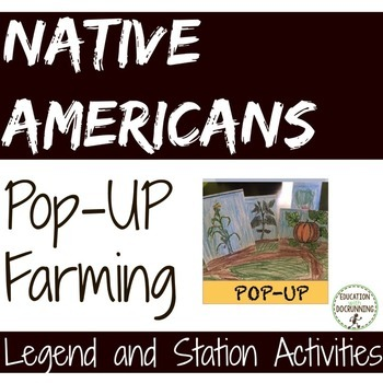 Native Americans Legend and Farming of the Iroquois Statio
