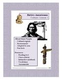 Native Americans Lesson 1 - Cultures