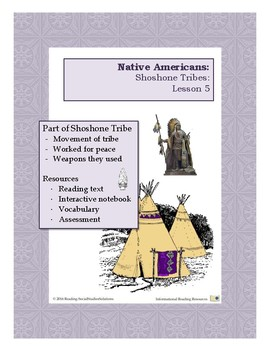 Native Americans Lesson 5 - Shoshone Tribes