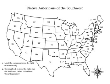 Native Americans Map Activity