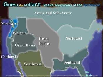 "Native Americans (Northwest) ""Guess the artifact"" game: PPT w pictures & clues"