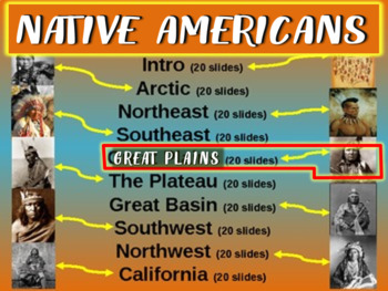 Native Americans (PART 5: GREAT PLAINS) visual, textual, engaging 200-slide PPT