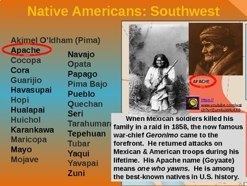Native Americans (PART 8: SOUTHWEST) visual, textual, engaging 200-slide PPT