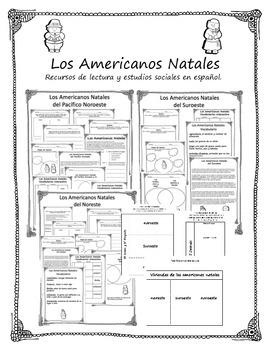 Native Americans (PNW, SW, NE) in Spanish