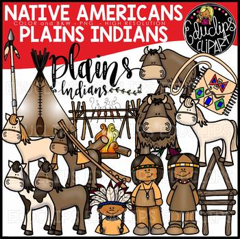 Native Americans-Plains Indians Clip Art Bundle {Educlips Clipart}