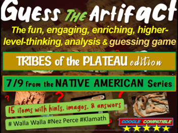"""Native Americans (Plateau) """"Guess the artifact"""" game: PPT"""