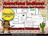 Native Americans: Interactive Notebook BUNDLE - Powhatan, Lakota, Pueblo