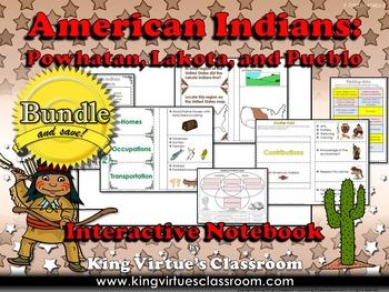 Native Americans: Interactive Notebook BUNDLE - Powhatan,
