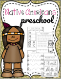 Native Americans Preschool Printables