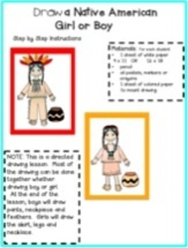 Native Americans Reading Comprehension 2nd and 1st grades