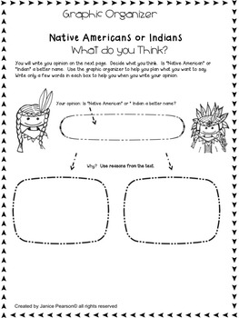 Native Americans  Reading Comprehension and Writing 2nd Grade
