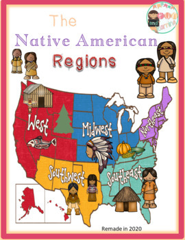 Native American Regions Map Worksheets & Teaching Resources