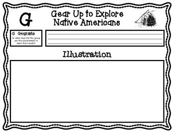 Native Americans Research Graphic Organizers and Booklet Pages
