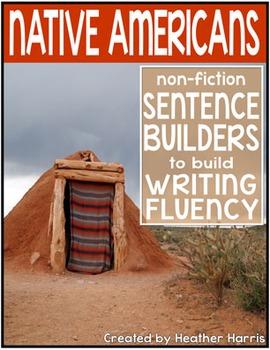 Native Americans Sentence Builders