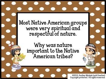 Native Americans Settlement in North America Task Cards or Scavenger Hunt