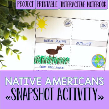 Native Americans Snapshot Foldable