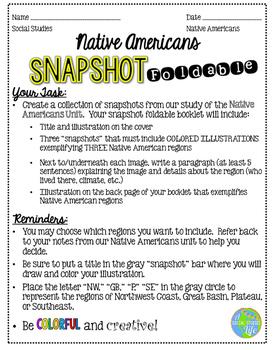 Native Americans Snapshot Activity