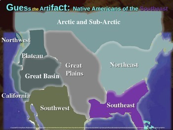 """Native Americans (Southeast) """"Guess the artifact"""" game: PPT w pictures & clues"""