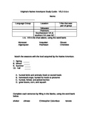 Native Americans Study Guide, Virginia Studies 2 d-e