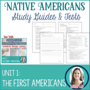 Native Americans Study Guides and Tests EDITABLE