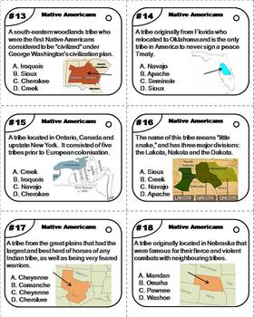 Native Americans Task Cards