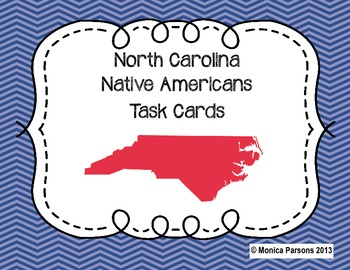 North Carolina Native Americans Task Cards