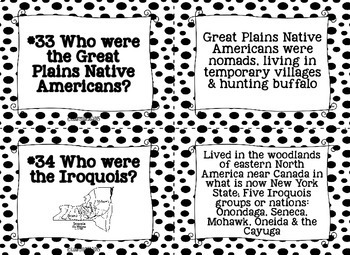Native Americans Task Cards and Recording Sheet - Black and White Papers