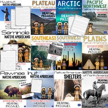 Native American Indians Reading Passages & Questions BUNDLE