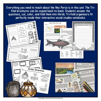 Native Americans - Nez Perce - {Articles, Activities, Vocabulary, and Flip Book}
